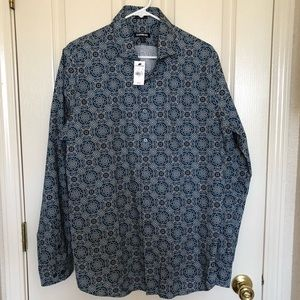 Express Men's Extra Slim Long Sleeve Shirt Sz L